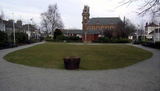 Wigtown market square gardens.