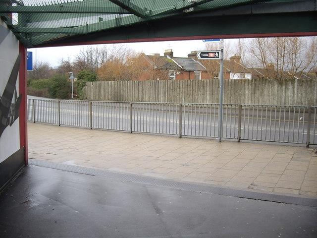 Western exit from railway footbridge
