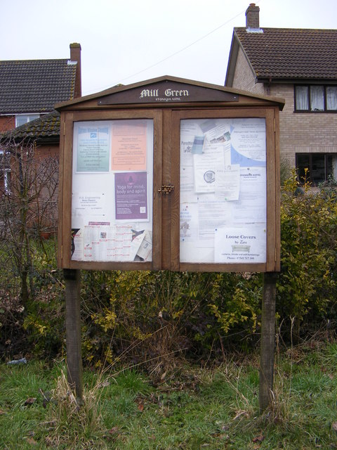 Mill Green Village Notice Board
