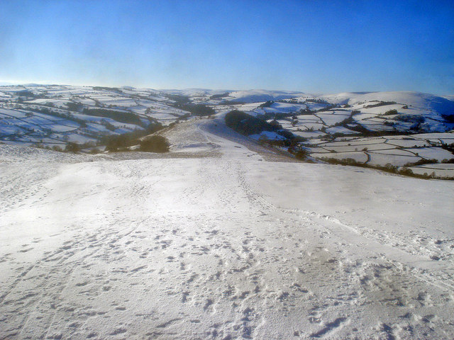 Snow-covered Hergest Ridge