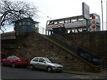 NT2774 : Police Box and Steps from Lower London Road by kim traynor