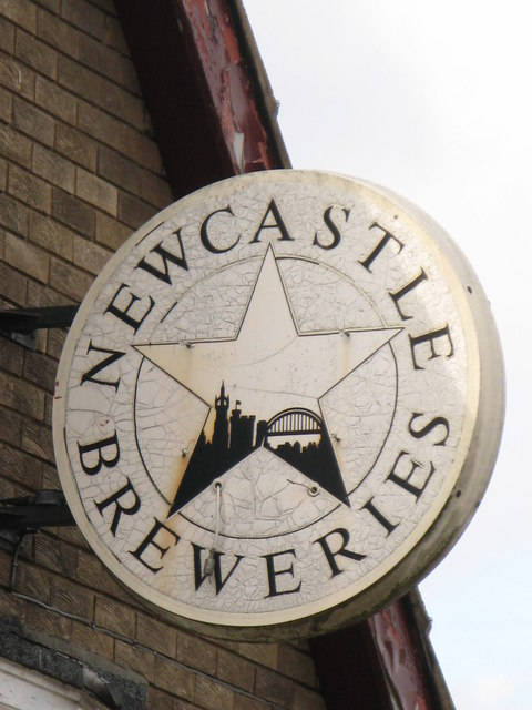 Newcastle Breweries sign on The Vallum, Moorcroft Road