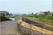 SP0288 : Smethwick Locks from bridge over Engine Arm, 1987 by Robin Webster