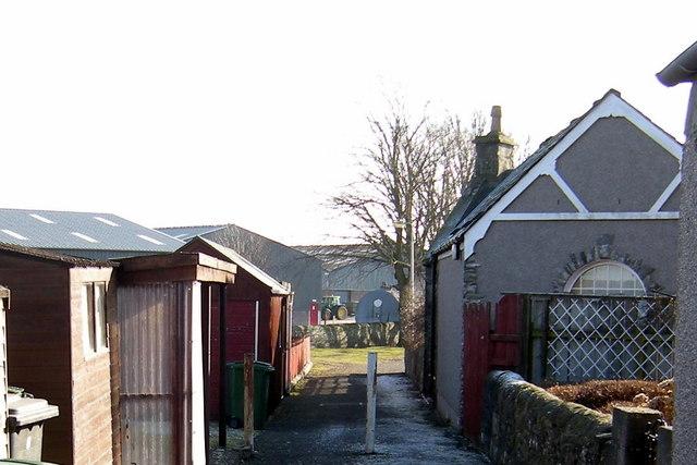 Lane leading from Muir Street, Forfar into Market Muir