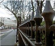 TQ2882 : Fencing to Regents Park London by Steve  Fareham