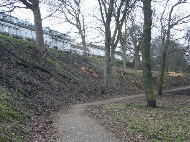 Path in London Road Gardens, looking westwards
