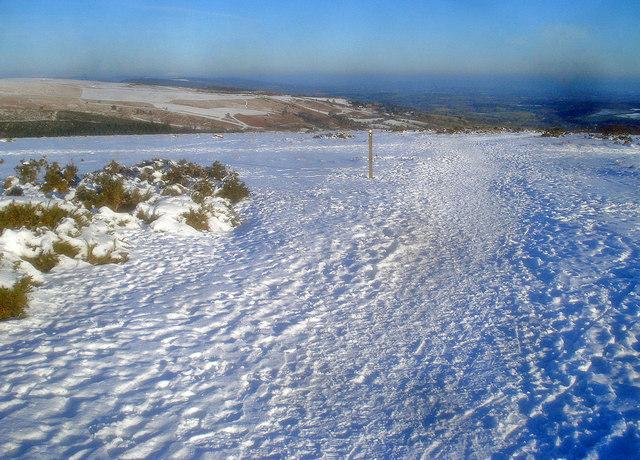 Offa's Dyke Path crosses the old racecourse