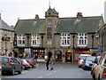 NY9864 : Town Hall and shops, Princes Street, Corbridge by Andrew Curtis