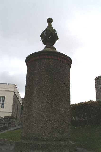 Monument to Charles Wesley in the square, Castletown