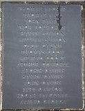 SO2956 : Kington war memorial - plaque 2 by Bob Embleton