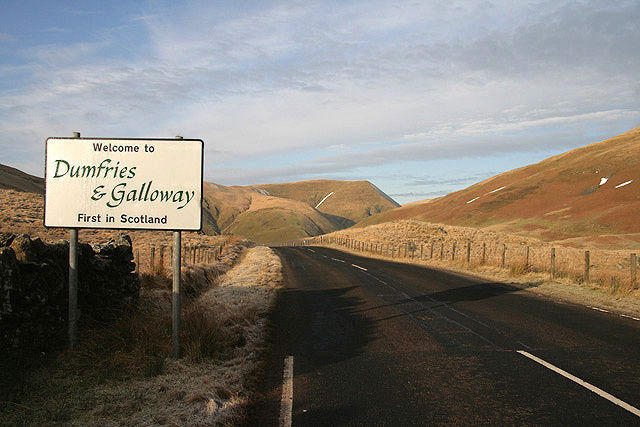 Welcome to Dumfries & Galloway © Walter Baxter :: Geograph Britain ...