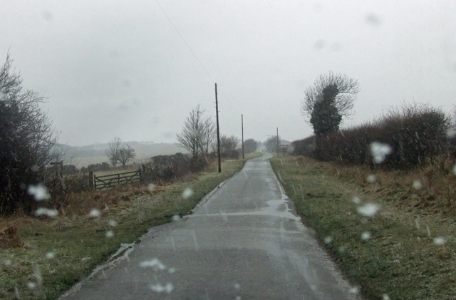 Wintry Weather near Bonby