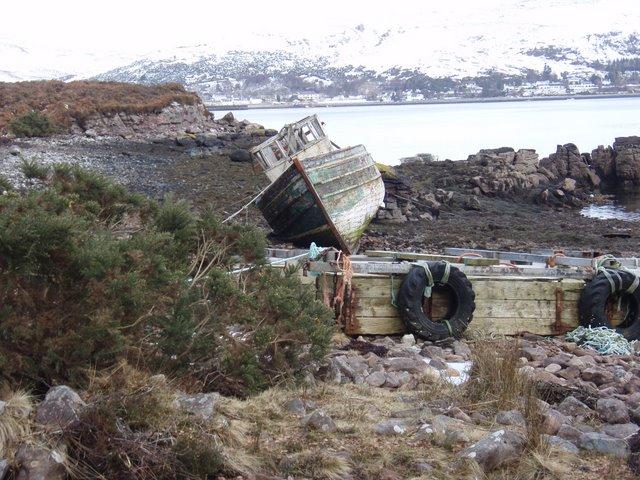 Retired fishing boat by Loch Broom