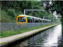 SP0484 : Railway and canal near Birmingham University by Roger  Kidd