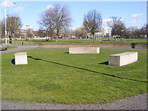 TQ4383 : Stone Monument, Barking Town Quay by Adrian Cable