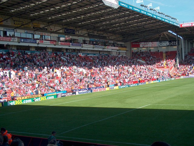 The north stand in Bramall Lane Stadium