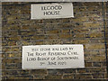 TQ3279 : Dedication stone on Elgood House by Stephen Craven