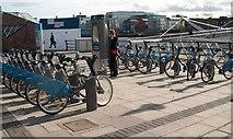 O1634 : A Dublin-bikes Station on Custom House Quay by Eric Jones