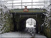 SD9926 : Railway bridge over Mayroyd Lane by Phil Champion