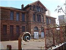 NS5565 : Derelict school buildings, Broomloan Road, Govan by David McMumm