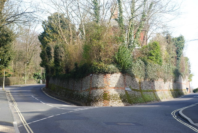 Junction of Quarry Road and Petersfield Road, Winchester