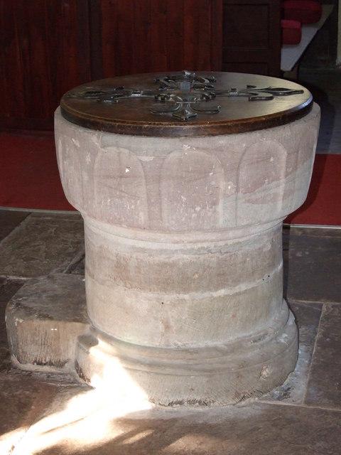 The Font Inside St Peter's Church Stoke Bliss