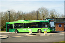 SU4828 : Bus at Winchester Park & Ride by Peter Trimming