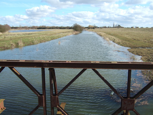 Morton's Leam looking east, Guyhirn Wash - The NeneWashes