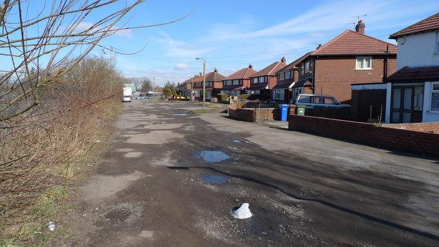 Pot-holes on Nelstrop Road North