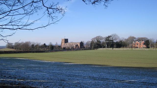 Arthuret church from Woodland Edge