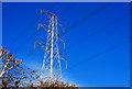 J3065 : Pylon and power lines near Lisburn (2) by Albert Bridge