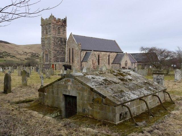 Churchyard, Church of St Gregory, Kirknewton