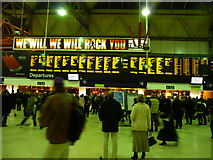 TQ3179 : London : Waterloo Train Station by Lewis Clarke