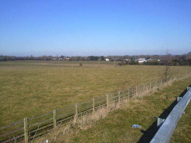 Landscape, near Ashbourne and M2 motorway