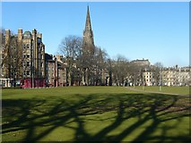 NT2572 : Bruntsfield Links, looking towards the Barclay Church by kim traynor