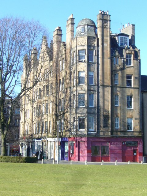 Barclay Terrace from Bruntsfield Links