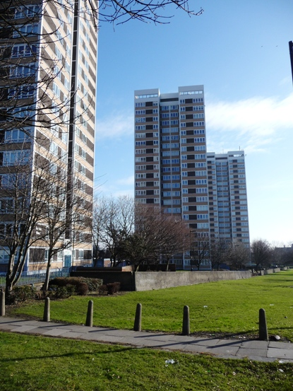 High rise flats off Westgate Road