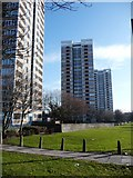 NZ2364 : High rise flats off Westgate Road by Christine Johnstone