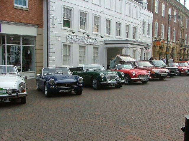 Spalding Market Place start of the Ninth Annual classic car rally