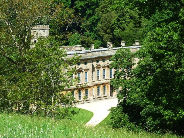 Looking Down on the Main House on the Dyrham Estate