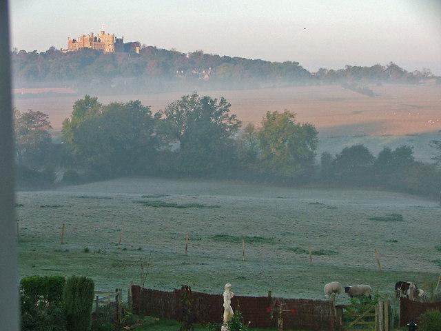 Early Morning View of Belvoir Castle taken From Woolsthorpe By Belvoir