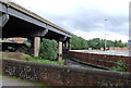 SP0990 : Elevated motorway and River, near Gravelly Hill, Birmingham by Roger  Kidd