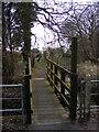 TM3569 : Footbridge of the footpath to Bruisyard Road by Adrian Cable