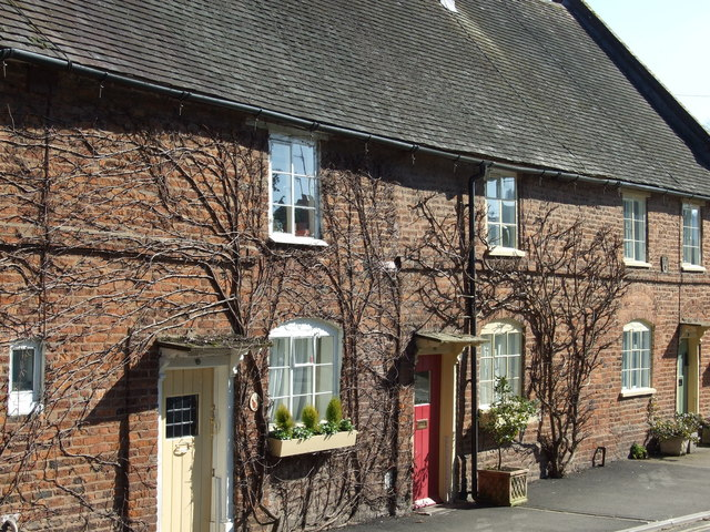 Row of Terraced Cottages in Church Street Tenbury Wells