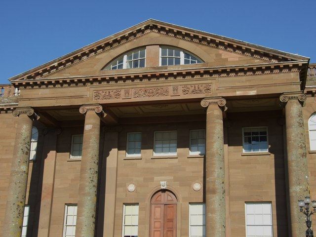 Close Up View of Front Entrance Berrington Hall (National Trust)
