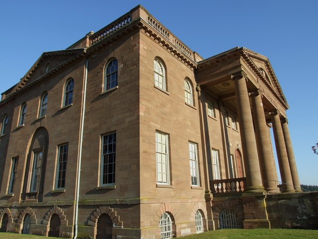 Side Angle View of Front Elevation Berrington Hall (National Trust)