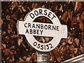 SU0513 : Cranborne: detail of Wimborne Street signpost by Chris Downer