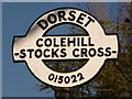 SU0102 : Furzehill: detail of Stocks Cross finger-post by Chris Downer