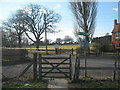 TQ8832 : The High Weald Landscape Trail turns at Smallhythe Road by David Anstiss