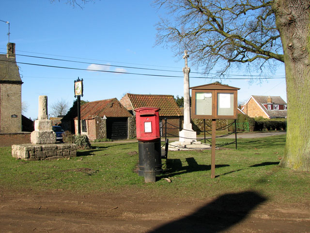 The village green in Wormegay